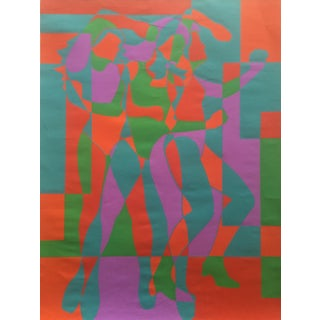 """Three Graces"" Silkscreen by Roy Ahlgren, 1968"