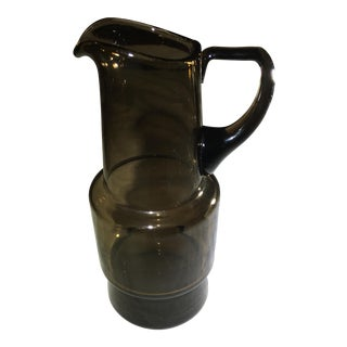 Holmegaard Vintage Smoked Glass Pitcher