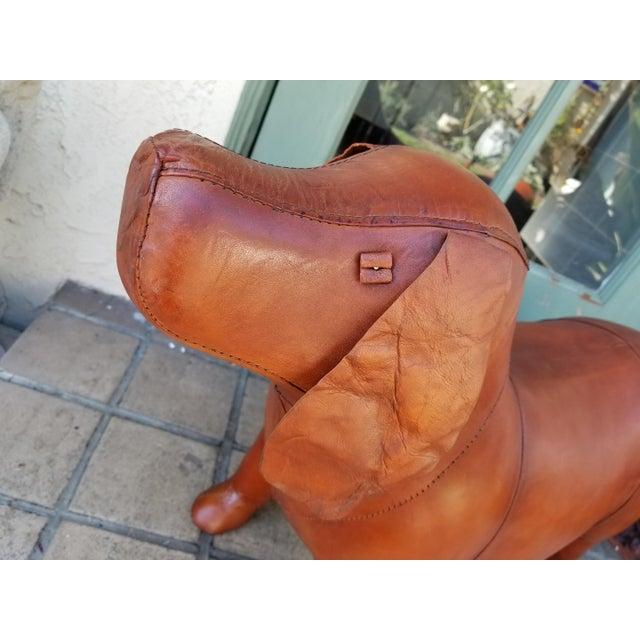 Small Leather Animal Beagle Dog Footstool - Image 2 of 5