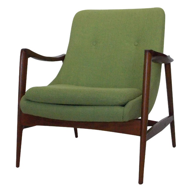 Green Danish Reproduction Wood Framed Chair Chairish