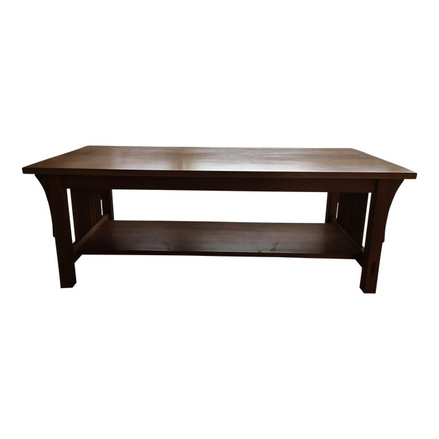 Stickley Mission Syle Coffee Table In Natural Cherry