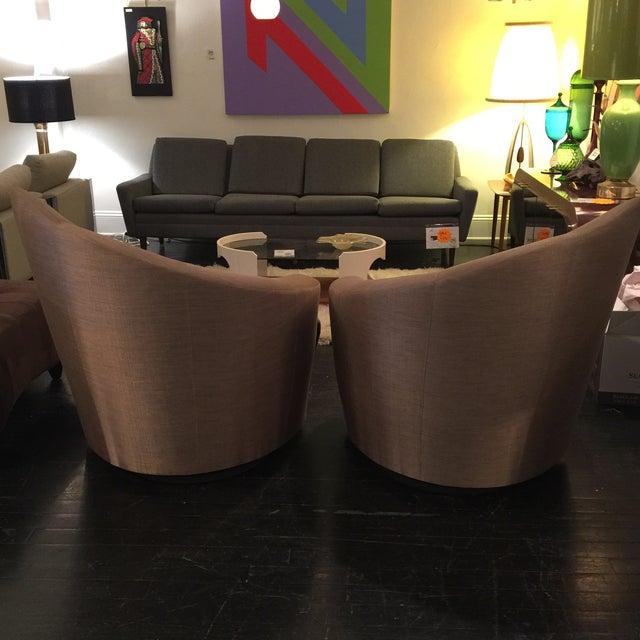"Vladimir Kagan ""Bilbao"" Swivel Chairs - a Pair - Image 5 of 8"