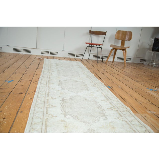 "Distressed Oushak Rug Runner - 2'8"" X 13' - Image 2 of 8"