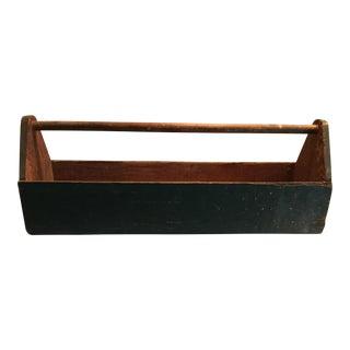 Vintage Handmade Wooden Tool Caddy