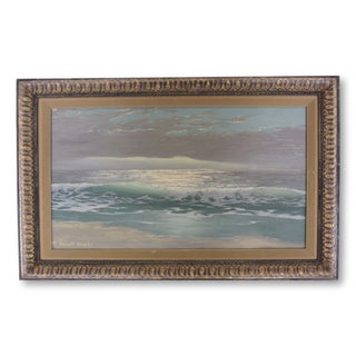 "Robert Weeks ""Ocean Swell"" Signed Seascape Oil Painting"