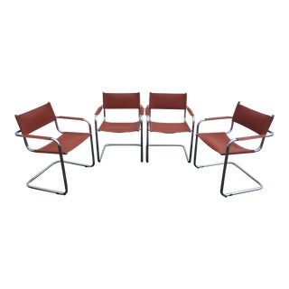 Marcel Breuer Style Cantilever Chairs - Set of 4