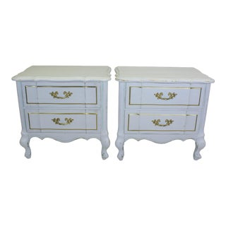 White French Provincial Nighstands - a Pair