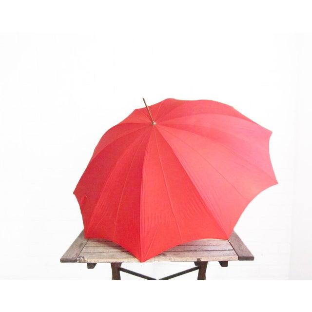 Image of Vintage Red Push N' Go Umbrella