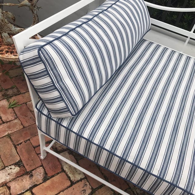 Cast Iron Sunbrella Upholstered Outdoor Daybed - Image 5 of 7
