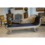 Image of Vintage Hand Carved Chaise Lounge