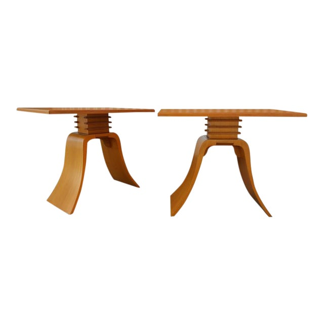 """Paul Frankl """"Bell"""" End Tables - Image 1 of 8"""