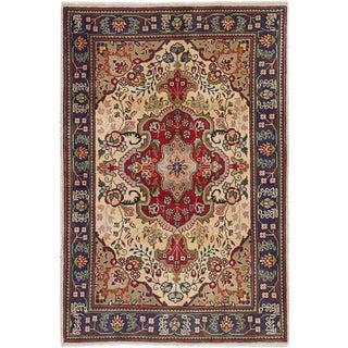 "3'3"" x 4'10"" Tabriz Vintage Persian Rug"