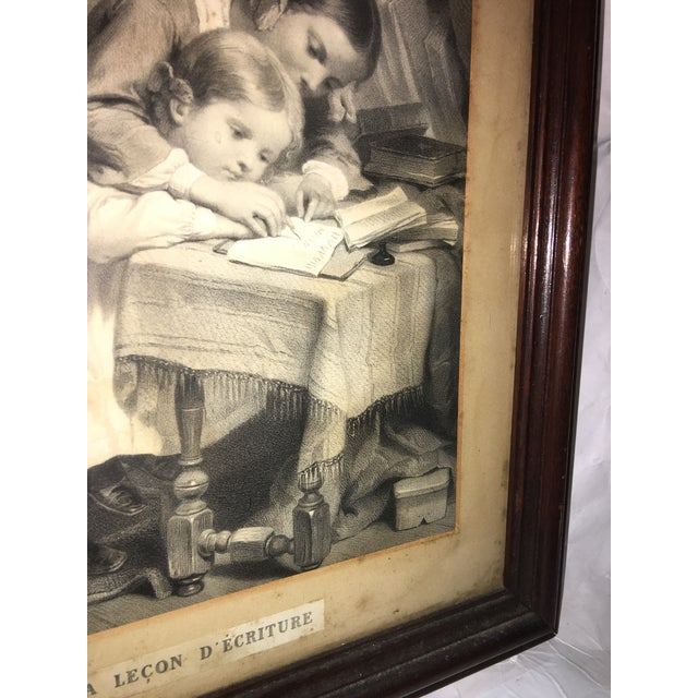 """19th Century """"The Writing Lesson"""" Lithograph - Image 9 of 11"""