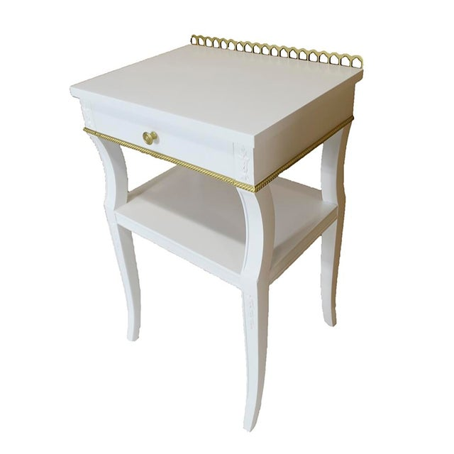 Neoclassical-Style Nightstands, Pair - Image 3 of 6