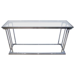 Two-Tier Chrome Console Table, USA 1970s