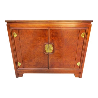 Thomasville Burlwood Veneer Flip Top Server