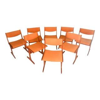 Scandinavian Modern Teak Dining Chairs - Set of 8