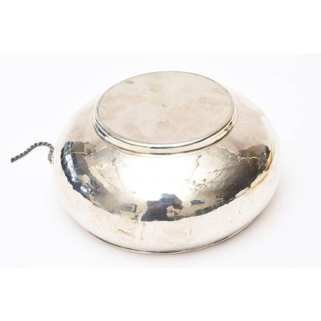 Italian Hand Forged Hallmarked Sterling Silver Corset Bowl - Image 7 of 11