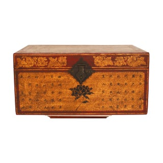 Vintage Asian Travel Storage Trunk