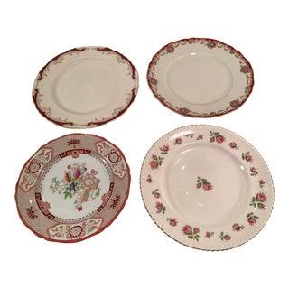 Mismatched Fine China Dinner Plates - Set of 4