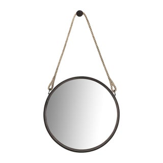 Nautical Round Steel Framed Mirror
