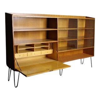 Franz Ehrlich Mid-Century Glass Front Shelves