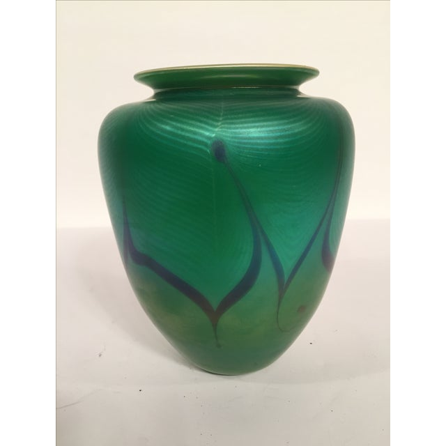 Richard Satava Green Art Glass Vase, C. 1979 - Image 5 of 9