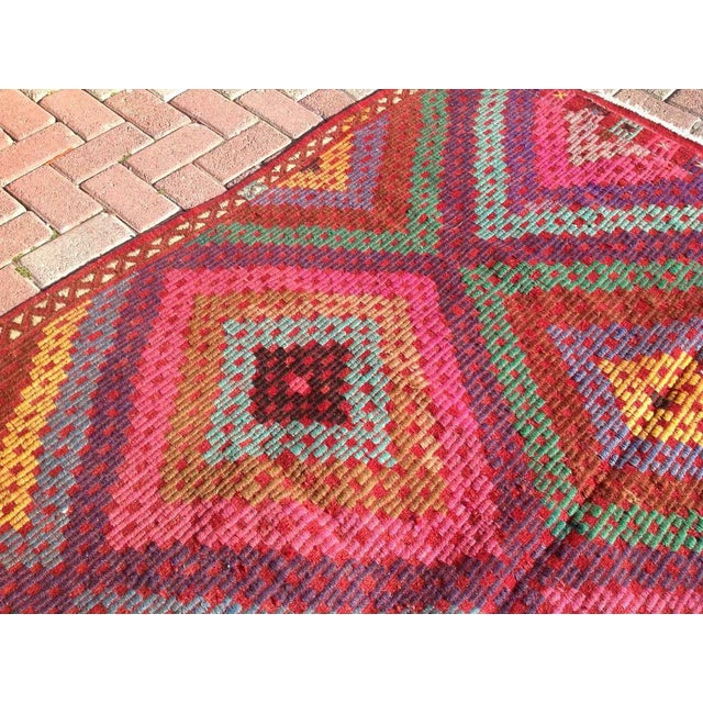 Vintage Turkish Kilim Rug - 5′11″ × 9′8″ - Image 7 of 8