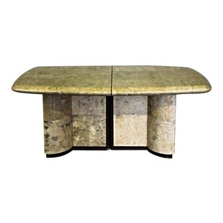Karl Springer Faux Goatskin Dining Table