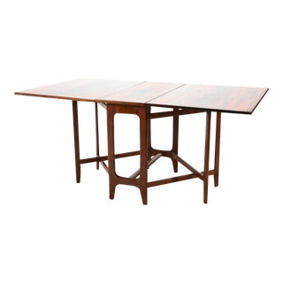 1950s Bendt Winge Drop Leaf Rosewood Dining Table