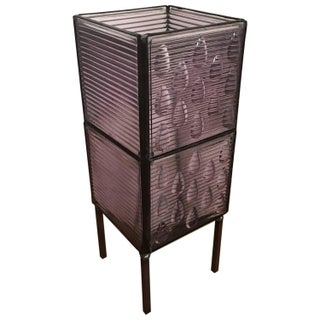 Purple Glass Luxfer Tiles Table Lamp