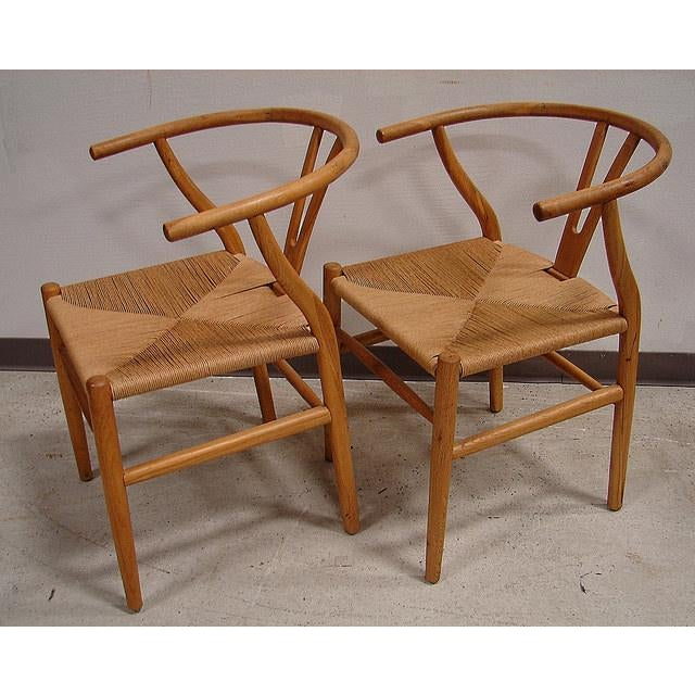 Hansen-Style Danish Rush Chairs - A Pair - Image 2 of 6