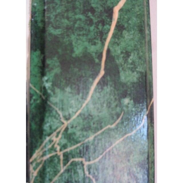 Refurbished Vintage Green Faux Marble Mirror - Image 5 of 7