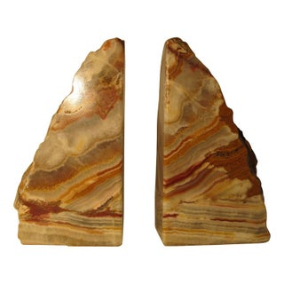 Large Agate or Onyx Bookends