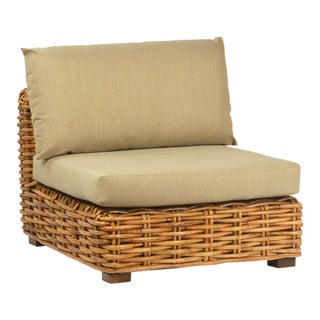 Jumbo Rattan Weave Club Chair