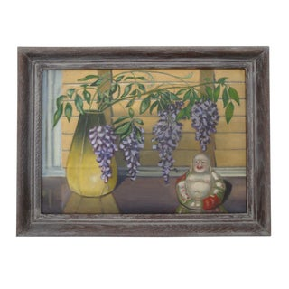1946 Vintage Chinoiserie Still Life Painting