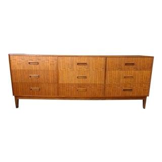 Danish Modern Teak Lowboy Dresser