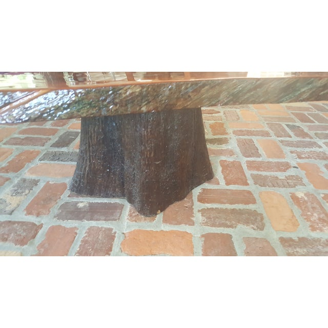 Vintage Rustic Freeform Tree Slab Coffee Table For Sale At: Rustic Cypress Tree Slab Coffee Table