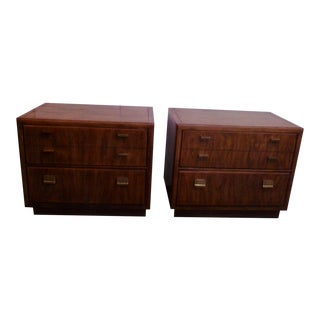 Drexel Heritage Campaign Consensus Nightstands - A Pair