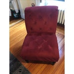 Image of Burgundy Upholstered Chair