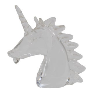 Marcolin Art Crystal Unicorn Sculpture
