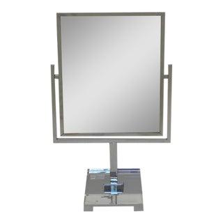Chrome and Acrylic Vanity Mirror by Charles Hollis Jones
