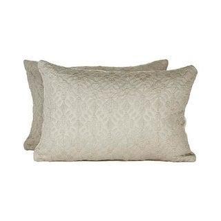 Highland Court by Duralee Silk Pillows - Pair
