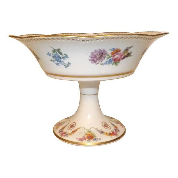 19th C. Hand Painted Porcelain Compote - Image 2 of 5