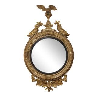 George III Giltwood Convex Mirror