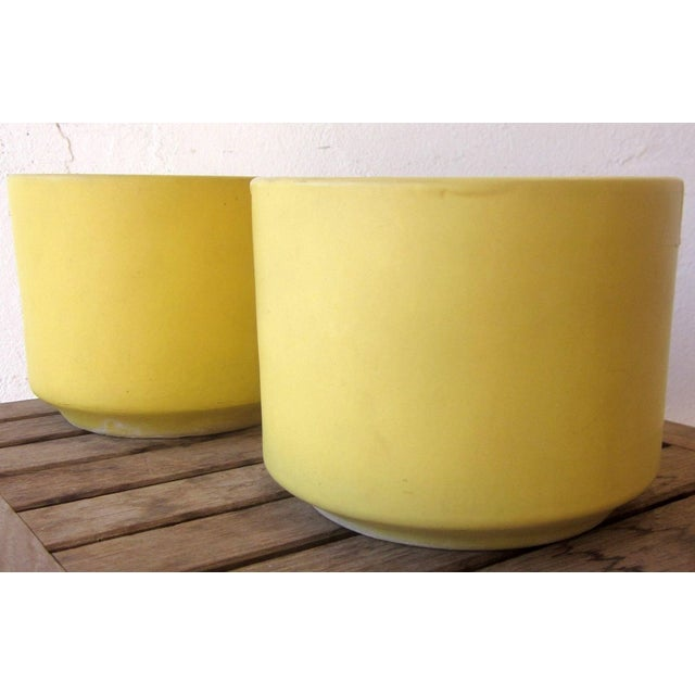 Yellow Gainey Mid Century Modern Pots - Pair of 2 - Image 2 of 9
