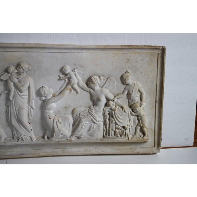 Neoclassical Plaster Relief Cherub Wall Art - Image 5 of 11