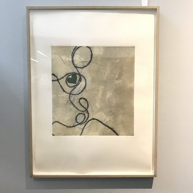 Image of Contemporary Framed Signed Lithograph