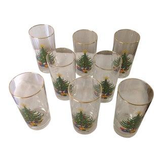 Holiday Christmas Tree Glasses - Set of 8