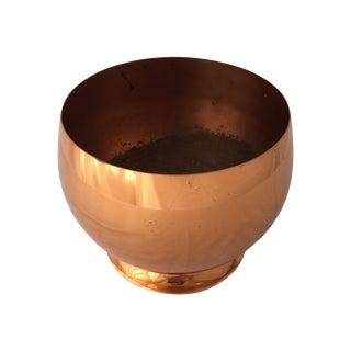 Vintage Copper Pedestal Bowl